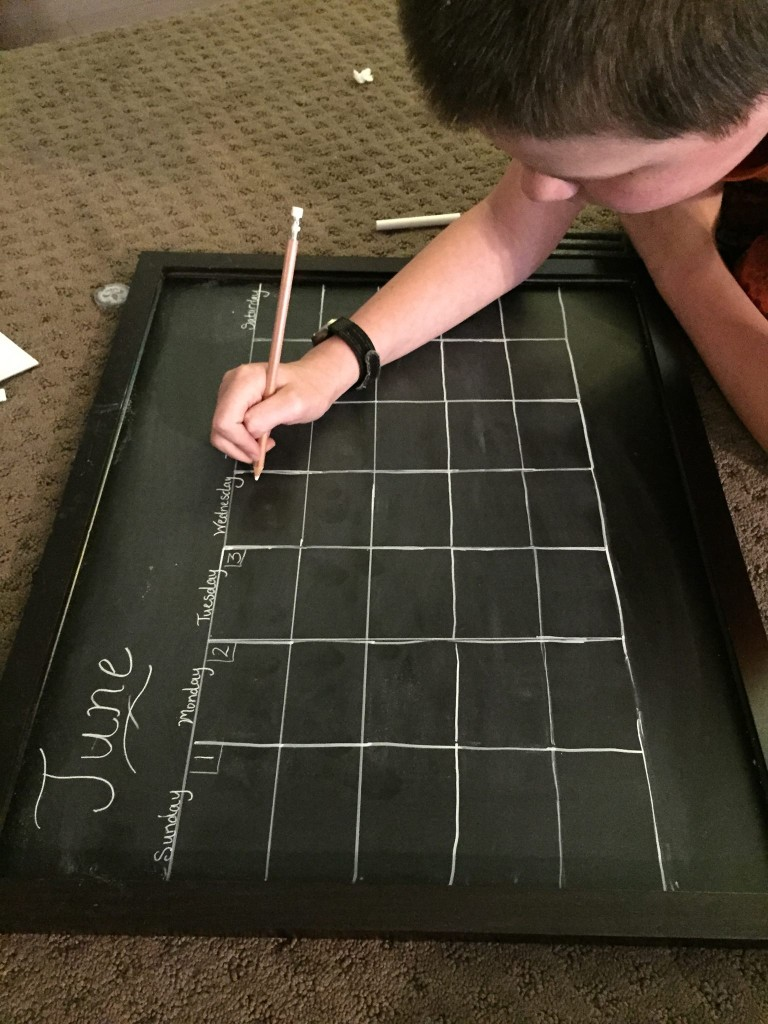 Easy DIY Chalkboard Calendar Info Center