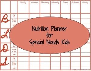 special needs-menu plan