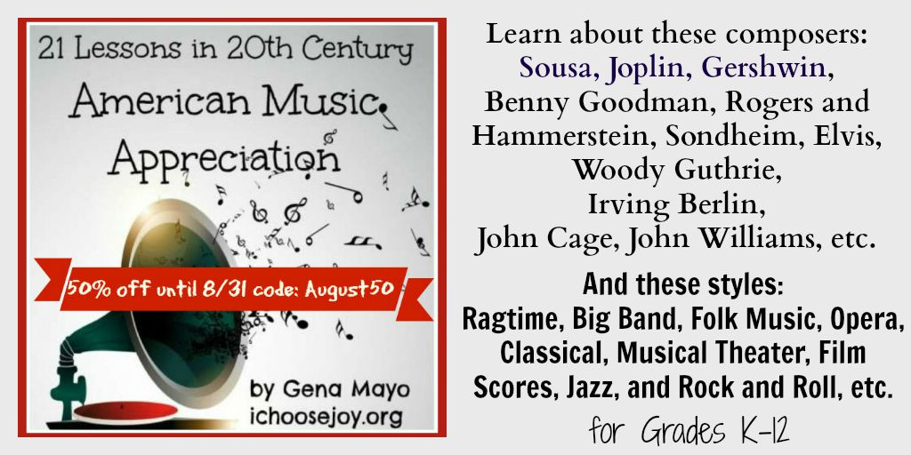 20th Century American Music Appreciation for Homeschoolers