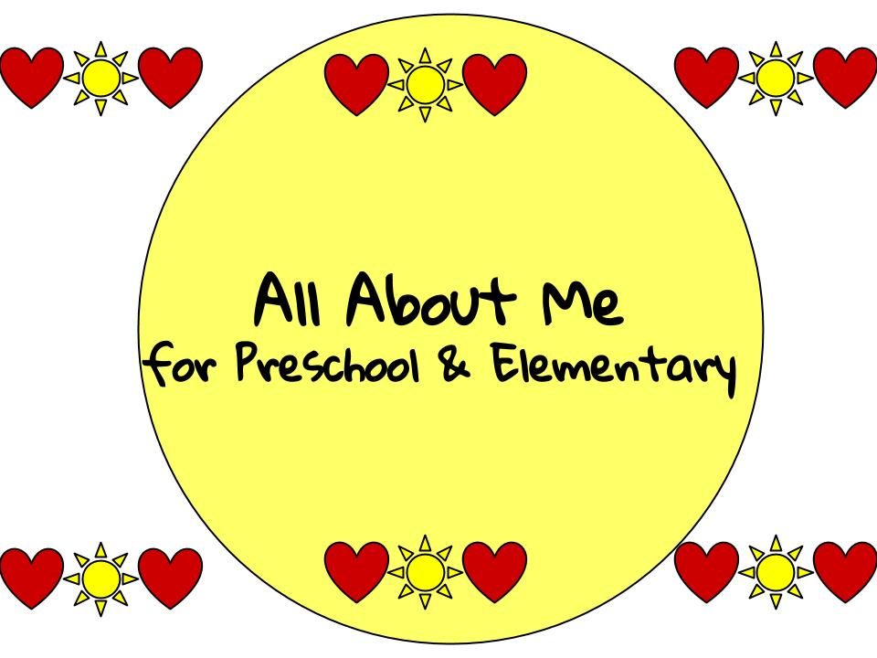 All About Me Page for Homeschoolers