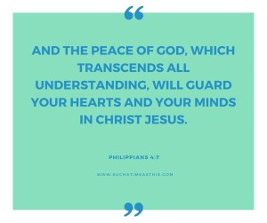And the peace of God, which transcends all (3)