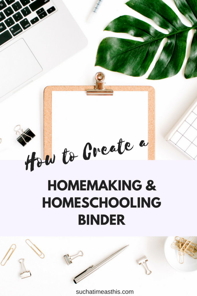 homemaking and homeschooling binder