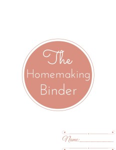 Homemaking planner