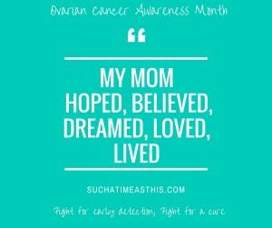 My Momloved, Hoped, Dreamed, Believed, Lived