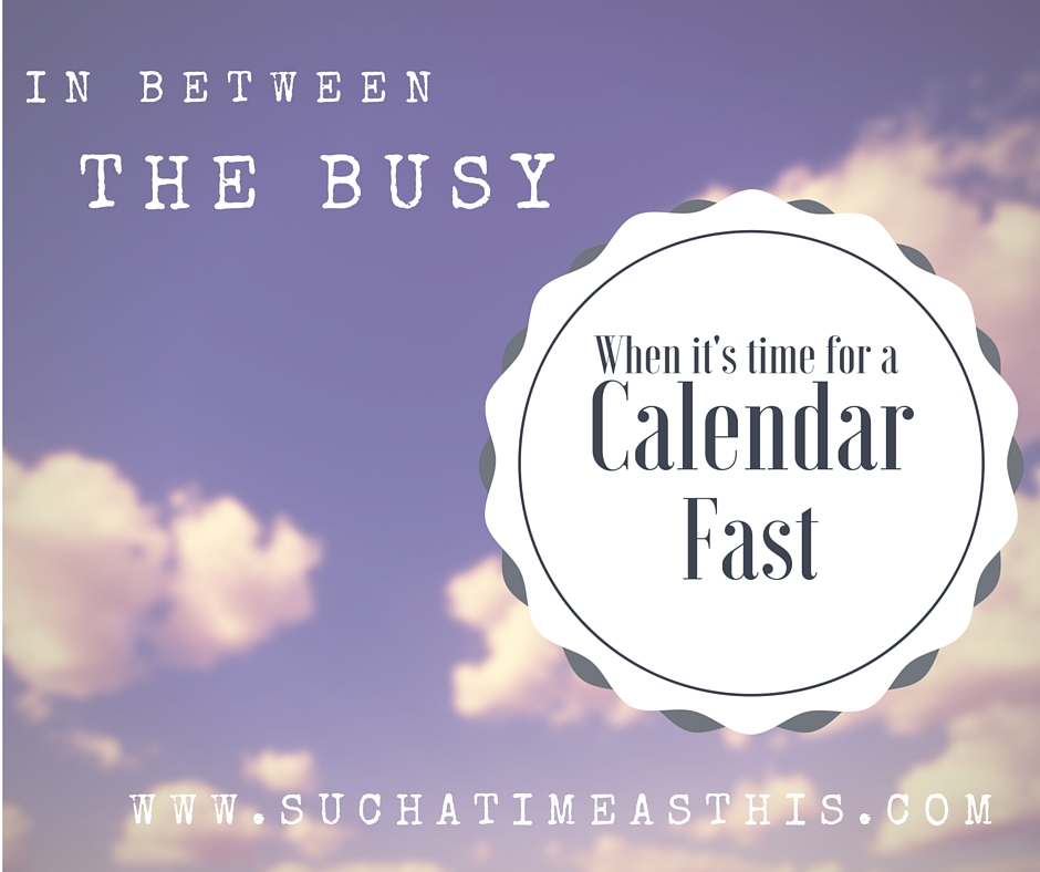 Fasting from the Busy