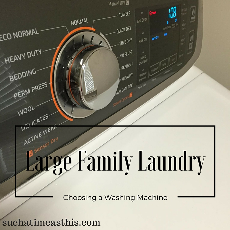 Large Family Laundry: Choosing a Washing Machine