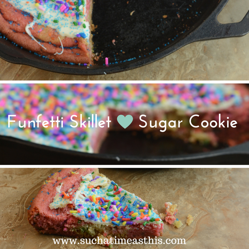 Funfetti Skillet Sugar Cookie