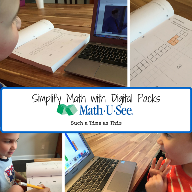 Simplify Homeschool Math with Math-U-See Digital Packs {Review}