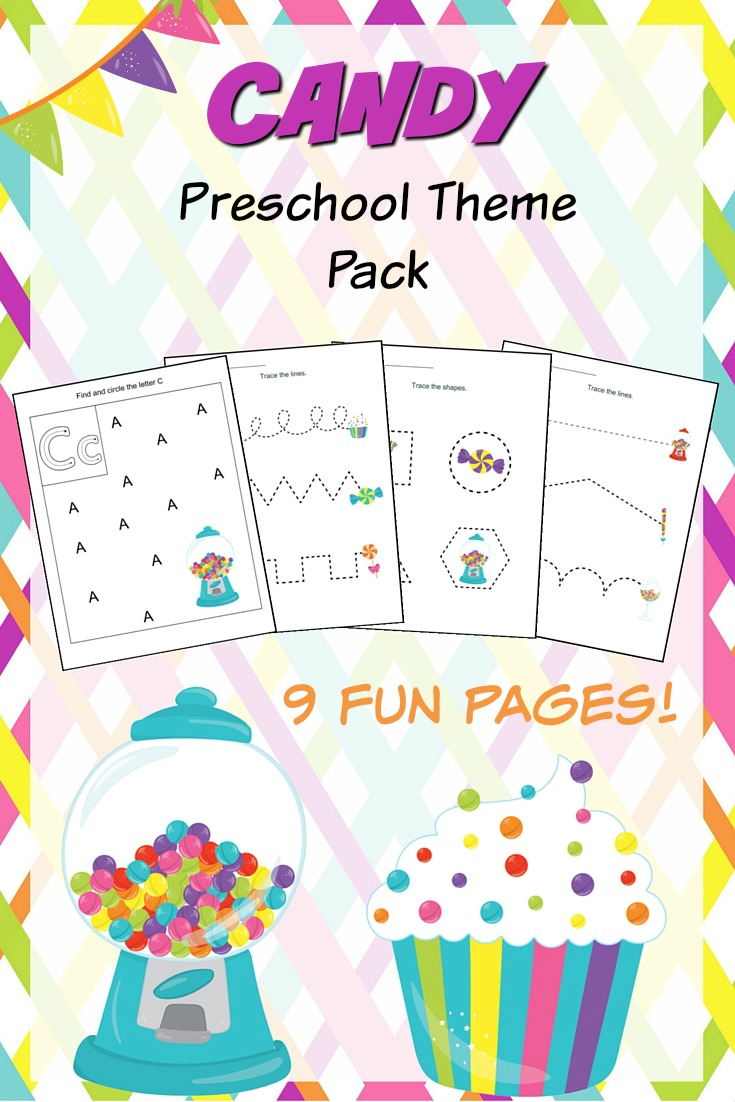 Candy Fun Pages for Preschoolers