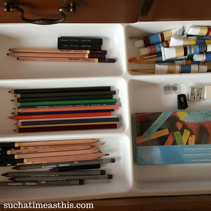 create an art center, homeschool art