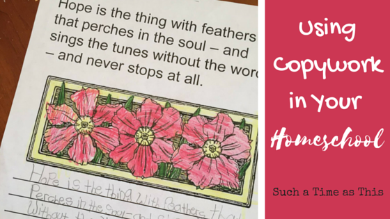 Using Copywork As Part of Your Homeschool {Homeschool Copywork Review}