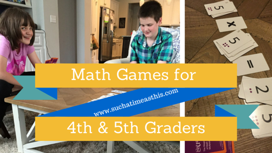 Math Games for 4th graders Multiply and Divide {Sunya Review}