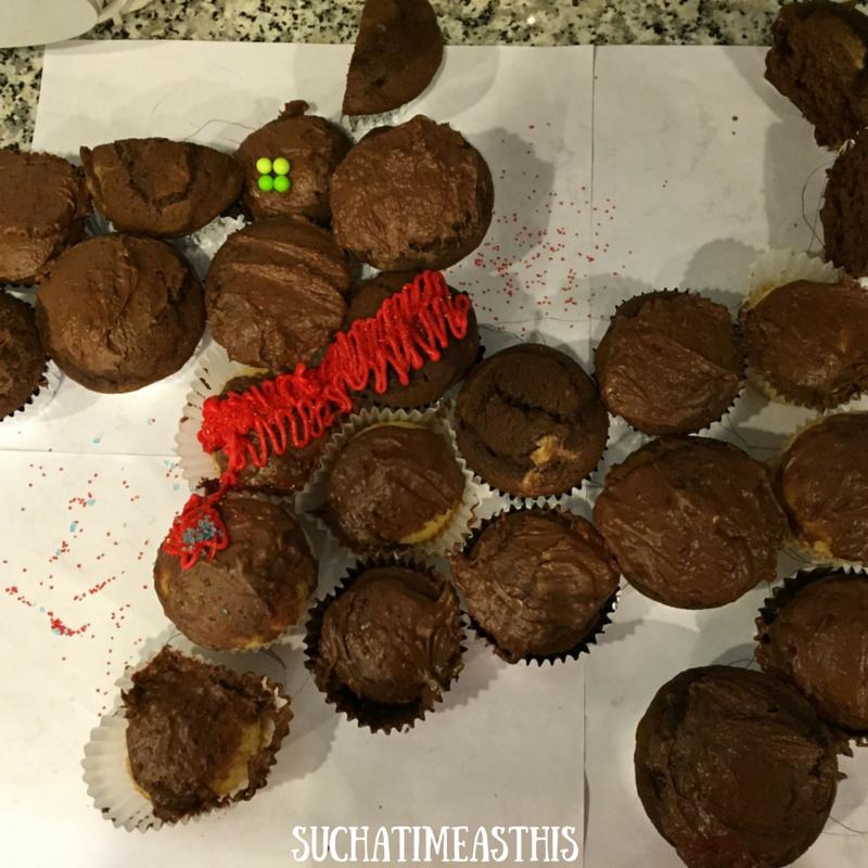 joy scotty dog cupcake cake