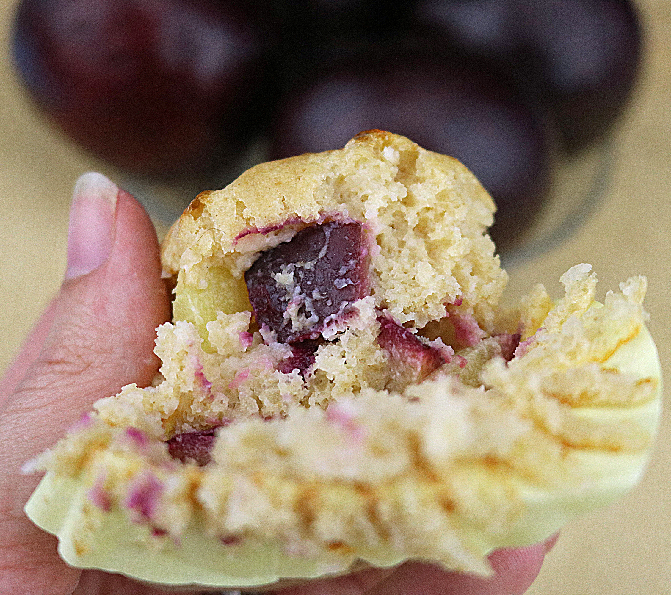 Plum Cottage Cheese Muffin