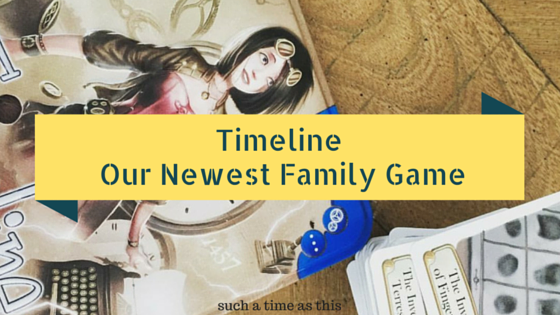 Our newest card game to play with the family {Timeline Game Review}