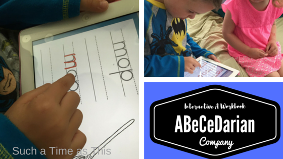 Interactive A Workbook for Early Readers ABeCeDarian Company {Review}
