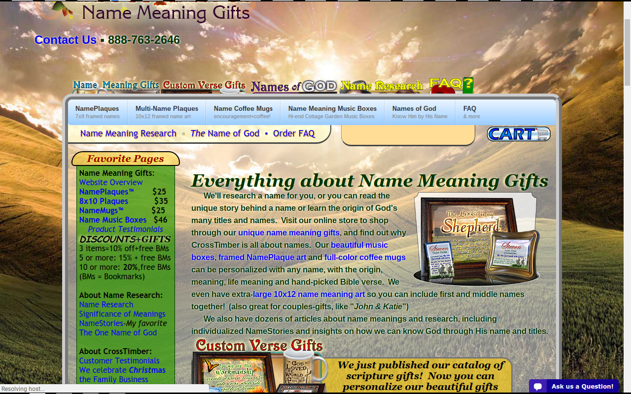 Plaques with name meanings - I Noticed On Their Website That In Addition To Name Plaques Coffee Mugs And Music Boxes They Also Offer Plaques With The Names Of God Printed On Them
