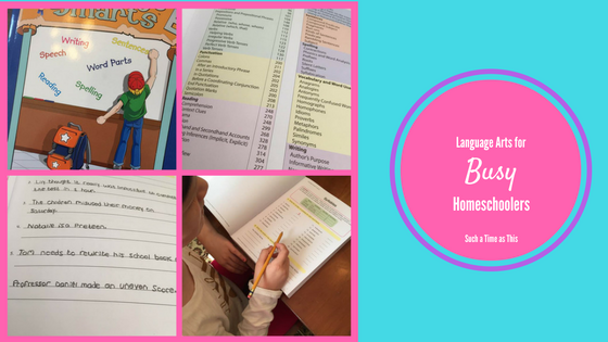 Language Arts for the Busy Homeschool Family