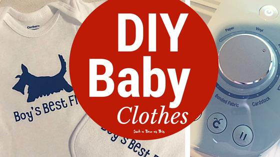 Cute DIY Baby Shirts and Bibs with Cricut Explore Air 2 {Tutorial}