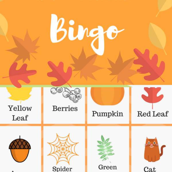 Autumn Nature Hunt Bingo + Free Printable