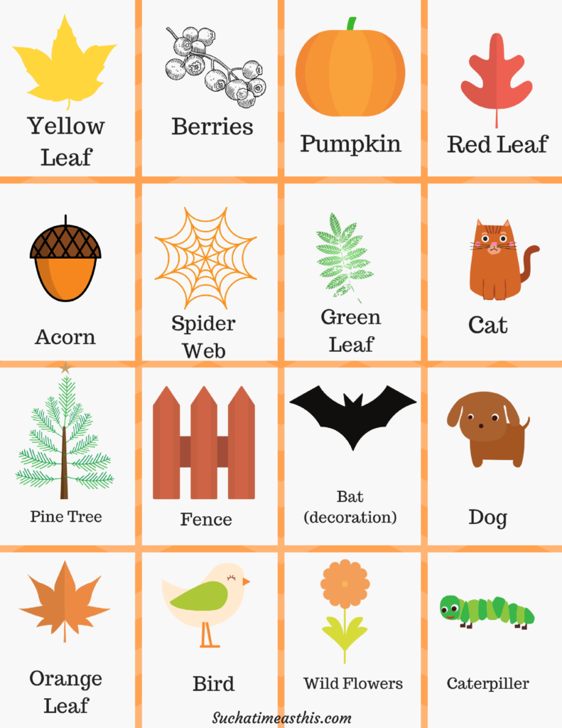 picture regarding Fall Bingo Printable called Autumn Mother nature Hunt Bingo + Free of charge Printable