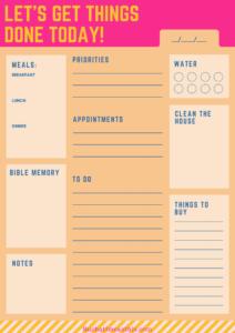 homemaking binder daily planner
