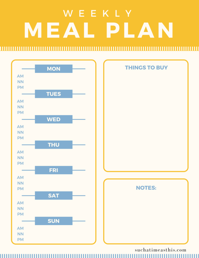 Homemaking Binder Meal Planner