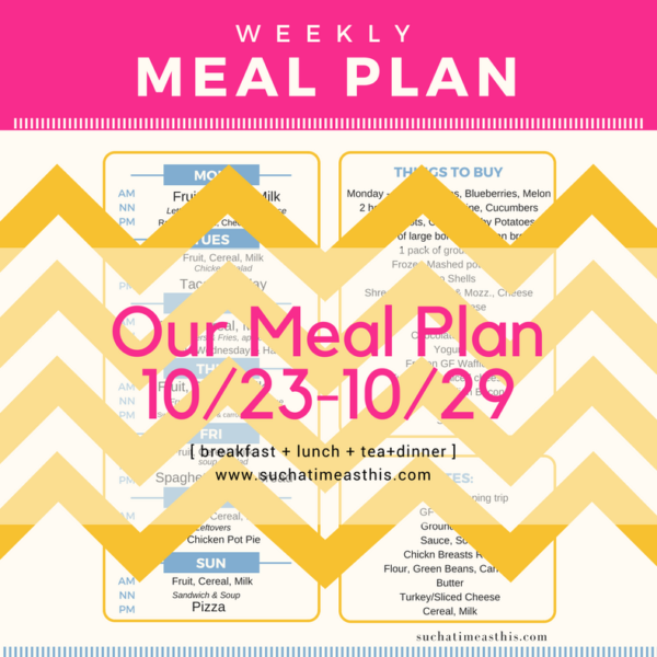 Warning: Don't Forget to Make a Meal Plan Now — It's Sunday Night!