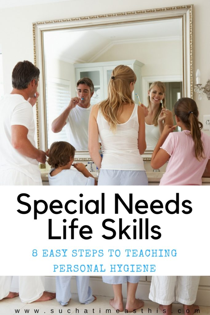 special needs life skills child proper hygiene