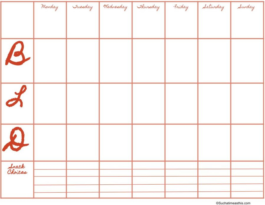 Free Downloadable Meal Planner